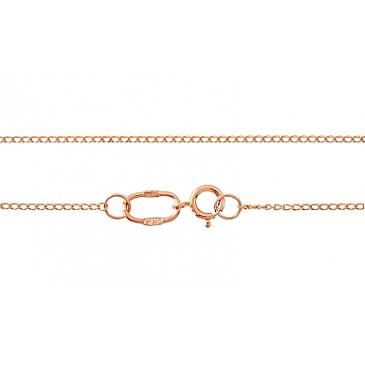 цепь плетение панцирное из красного золота 103105