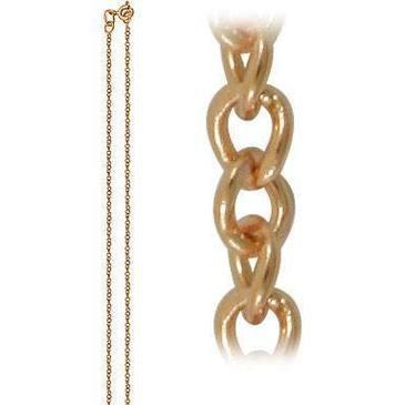 цепь плетение панцирное из красного золота 165004006040 от EVORA
