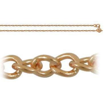 цепь плетение панцирное из красного золота 165004006050 от EVORA