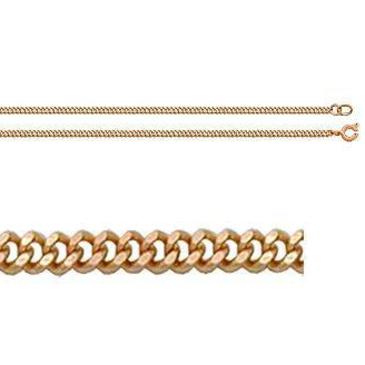 цепь плетение панцирное из красного золота 165804001055 от EVORA