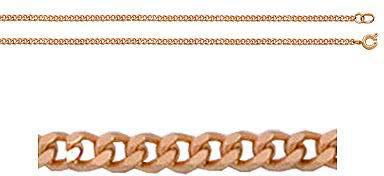 цепь плетение панцирное из красного золота 165805001055 от EVORA