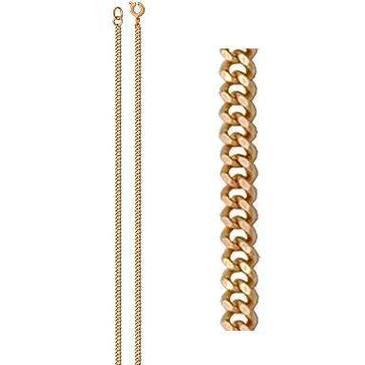 цепь плетение панцирное из красного золота 165804001040