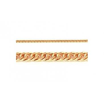 Цепь плетение панцирное из красного золота 26511