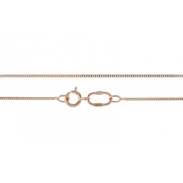 Цепь плетение панцирное из красного золота 30358