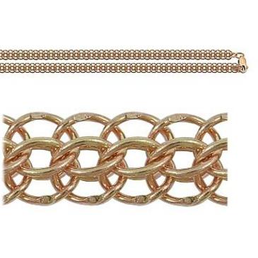 цепь плетение питон из красного золота 166007042045