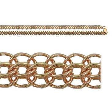 цепь плетение питон из красного золота 166006042045