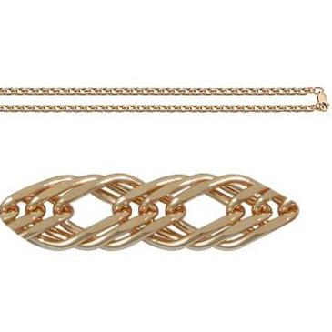 цепь плетение ромбовое из красного золота 165805021045 от EVORA