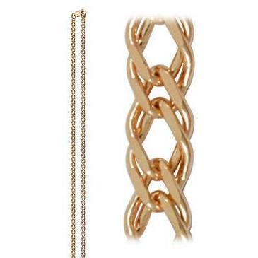 цепь плетение ромбовое из красного золота 165804020065