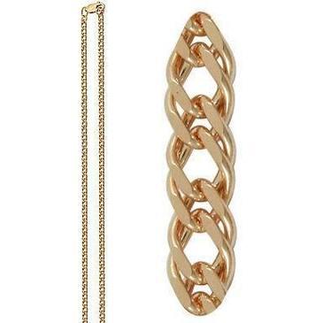 цепь плетение ромбовое из красного золота 165806020050