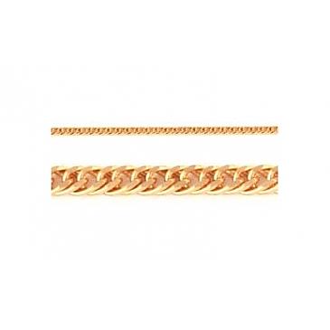 Цепь плетение ромбовое из красного золота 112547