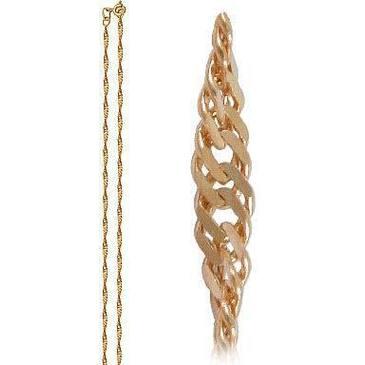 цепь плетение сингапур из красного золота 165803512050