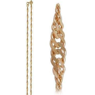 цепь плетение сингапур из красного золота 165803512065