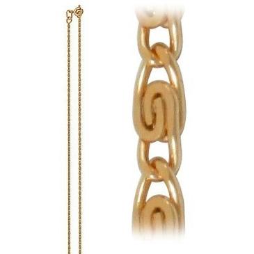 цепь плетение улитка из красного золота 165804048040