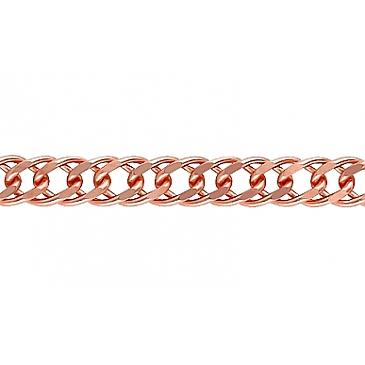 Цепь ромбовое плетение из красного золота 26032