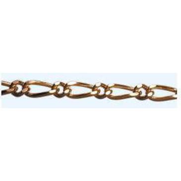 цепочка плетение комбинированное из красного золота НЦ 12-012