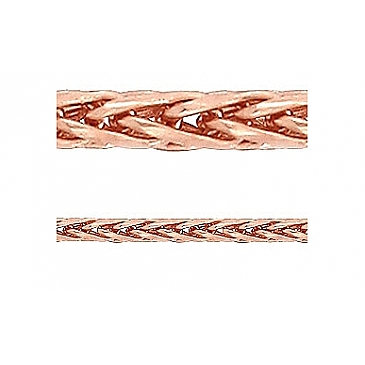 Золотая цепь плетение колос из красного золота 66526