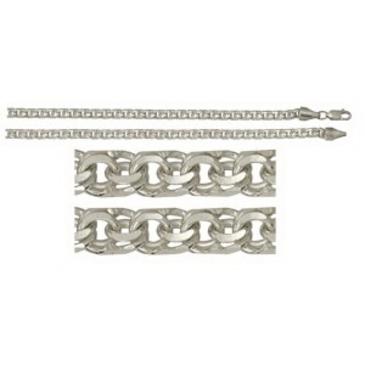 цепь плетение бисмарк из серебра 366808080065
