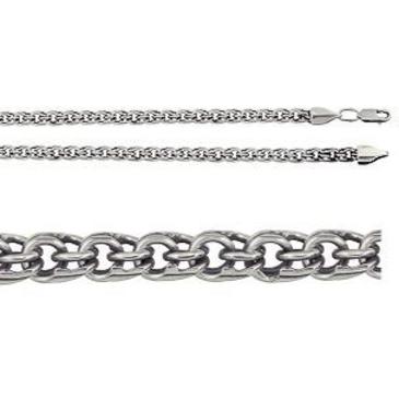 цепь плетение бисмарк из серебра 366109080040