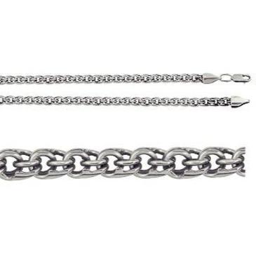 цепь плетение бисмарк из серебра 366109080045