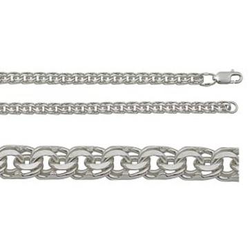 цепь плетение бисмарк из серебра 366807080050