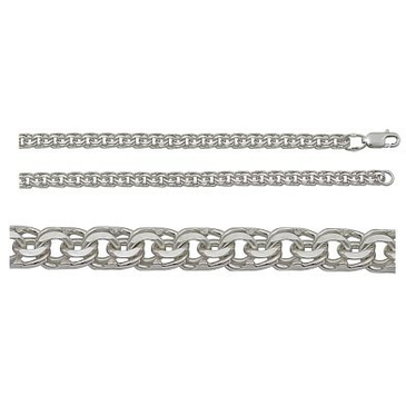 цепь плетение бисмарк из серебра 366807080055
