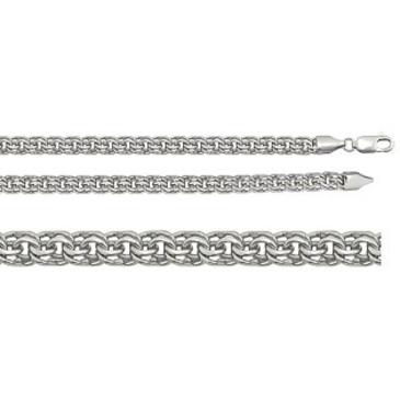 цепь плетение бисмарк из серебра 366909080040
