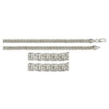 цепь плетение бисмарк из серебра 366908080055
