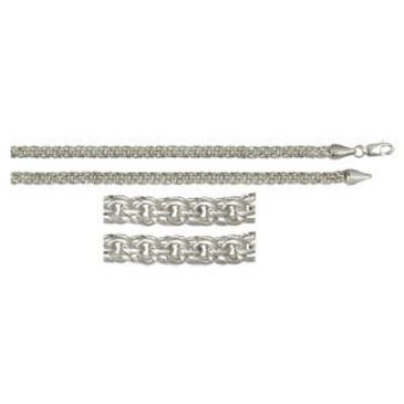цепь плетение бисмарк из серебра 366908080050