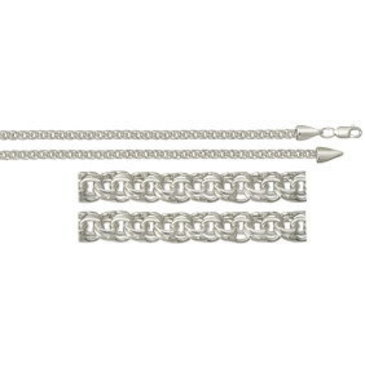 цепь плетение бисмарк из серебра 366007080050