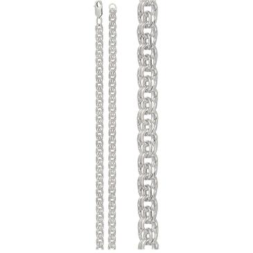 цепь плетение бисмарк из серебра 366609080040