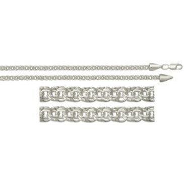 цепь плетение бисмарк из серебра 366006080050