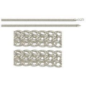 цепь плетение бисмарк из серебра 366007042045-7