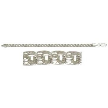 цепь плетение бисмарк из серебра 366008080040-5