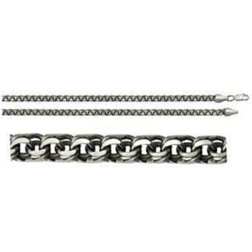 цепь плетение бисмарк из серебра 366308080045