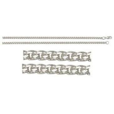 цепь плетение бисмарк из серебра 366806080050