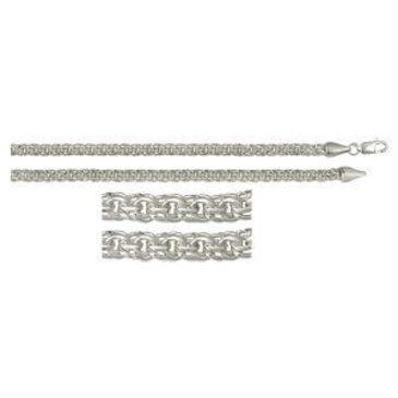 цепь плетение бисмарк из серебра 366008080050