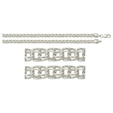 цепь плетение бисмарк из серебра 366008080050-1
