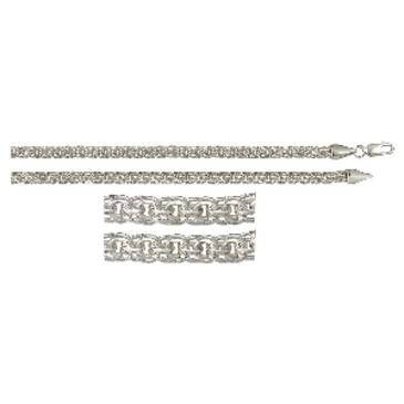 цепь плетение бисмарк из серебра 366008080040