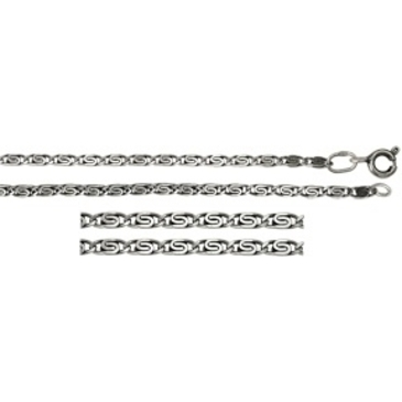 цепь плетение глаз пантеры из серебра 365308048065