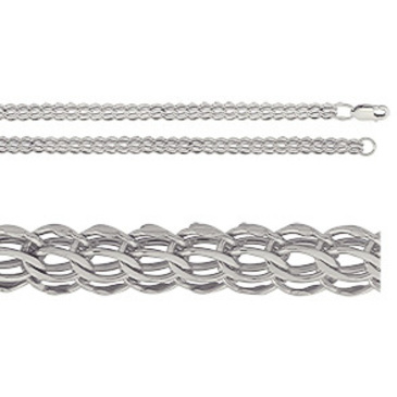 цепь плетение комбинированное из серебра 366805042050