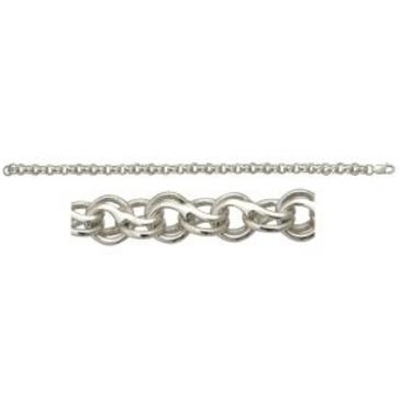 цепь плетение комбинированное из серебра 366008079060
