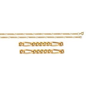 цепь плетение комбинированное из серебра 365410040060