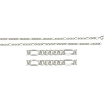 цепь плетение комбинированное из серебра 365610040060