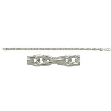 цепь плетение комбинированное из серебра 366013076040