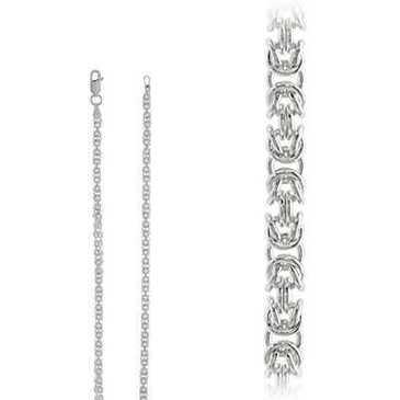 цепь плетение комбинированное из серебра biznotdcц50