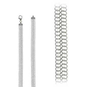 цепь плетение комбинированное из серебра tz65vdrpsц40