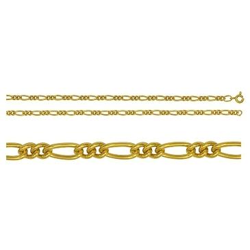 цепь плетение комбинированное из серебра 365210041065-1