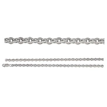 цепь плетение комбинированное из серебра 366808079065