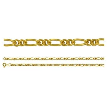 цепь плетение комбинированное из серебра 365210041060-1