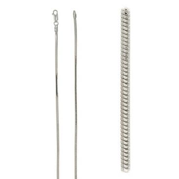 цепь плетение корда из серебра snkdcц250